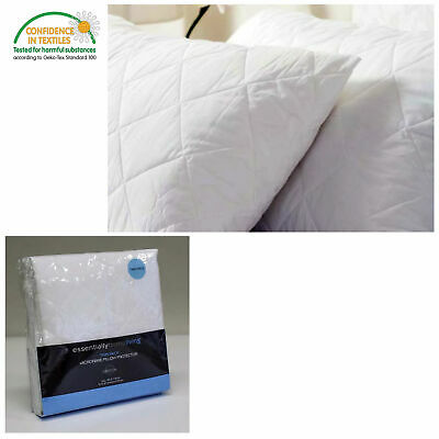 Twin Pack ( Set of 2 ) Microfiber Quilted Standard Pillow Protectors - 50 x 75cm