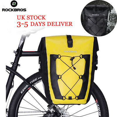 ROCKBROS Waterproof Pannier Bag Cycling Bike Travel Rear Seat Carrier 27 L