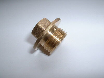 "Brass 1/2""bsp Flanged & Undercut Male End Blanking Stop Plug Cap 16Mm Hex Drive"