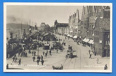 Bergen.tyskebryggen.norway.real Photographic Postcard Posted 1933