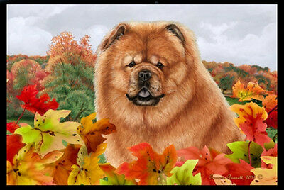 Indoor/Outdoor Fall Floor Mat - Chow Chow 40114