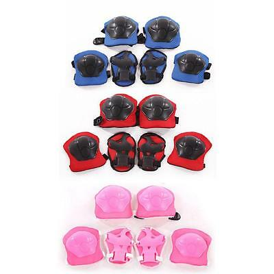 Kids Outdoor Skating Skateboard Roller Knee Wrist Elbow Guard Pads Protector  BY
