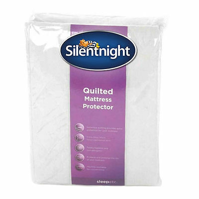 New Silentnight King Bed Size Super Soft Quilted Mattress Protector Bedding