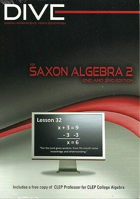 DIVE Instructional CD-ROM  for Saxon Algebra 2  *2nd and 3rd Editions* NEW