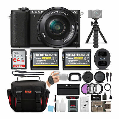 Sony Alpha a5100 ILCE5100L/B w/ 16-50mm 24MP Digital Camera (Black) 64GB Bundle