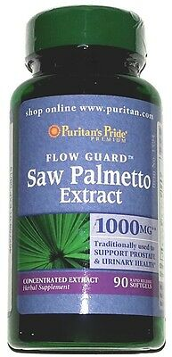 Saw Palmetto Extract 1000mg Prostate Urinary Health Support 90 Softgels Capsules