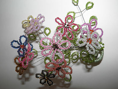 Vintage Wired Beaded Floral Flower Corsage