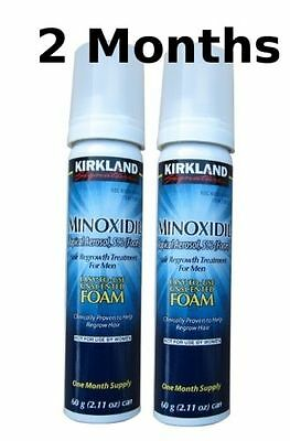FOAM 2 Months KIRKLAND Minoxidil Topical Aerosol 5% Hair Regrowth Loss Treatment