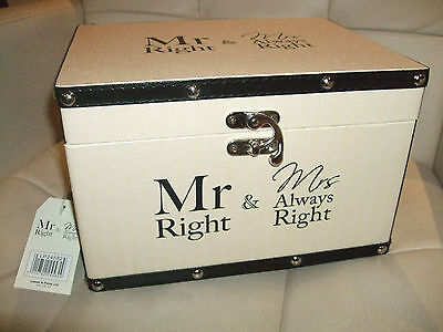 Wedding  Gift Keepsake Box   Mr Right & Mrs Always Right !new
