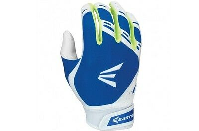 Easton HF7 Hyperskin Fastpitch Women's Batting Gloves White/Royal Blue Medium