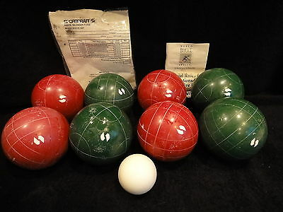 "Bocce Ball Set By Sportscraft ""heritage"" Vintage With Carrying Case"