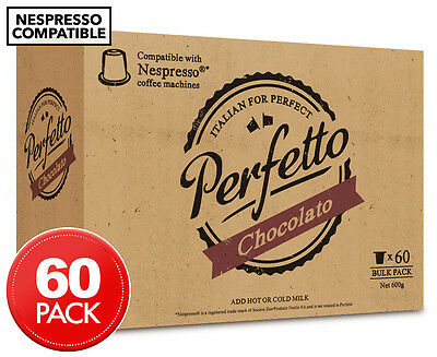 Perfetto Nespresso Compatible Hot Chocolate Capsules 60pk