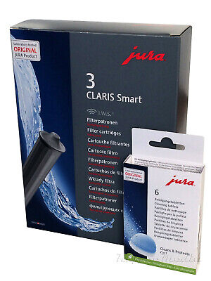 JURA ORIGINAL Claris SMART Filter 71794 + Reinigungstabs 62715 /E6 E8 E60 E80 Z6