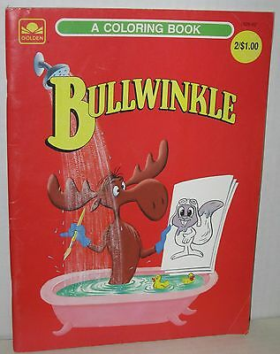 "1970's Rocky and Bullwinkle ""Bullwinkle"" Coloring Book Unused"