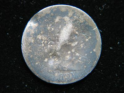 1801 10C Draped Bust Dime Rare Key Date Mintage 34,640 Damaged Filler