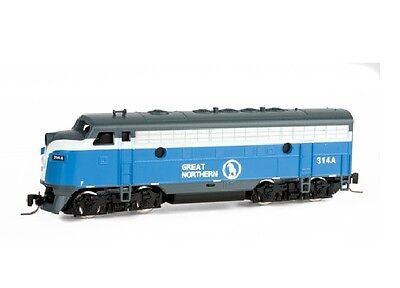 Z Scale Locomotive Great Northern F7A Road #314A MTL #98001330