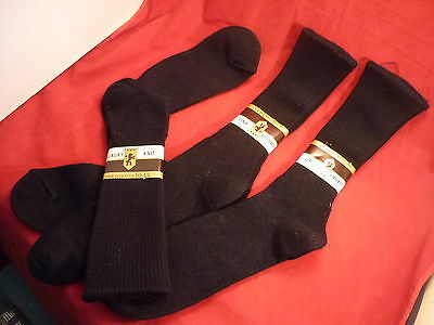3 Luxury Knit  Hosiery Vintage Dress Socks Dk. Blue Fits 10-13  Usa Nos