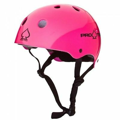 Protec Classic Skate Helmet - Gloss Pink Punk  - Size Large - Skate Scooter
