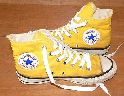 Vintage CONVERSE YELLOW ALL-STARS 70's (Men 4.5 Women 6.5) ~ Made in USA