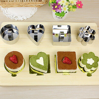 Stainless Steel Pastry Cheese Cake Mould Sectional Shape Baking Bakeware Mold