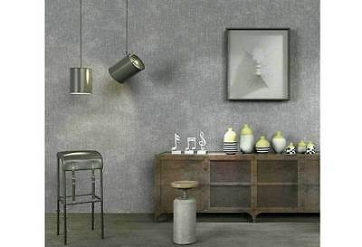 Modern 3D textured cement look Slate GREY Industrial Shop fitting wallpaper roll