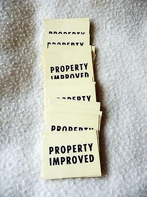 Vintage Squatter Board Game - 30 x Property Improved Cards Replacement Part