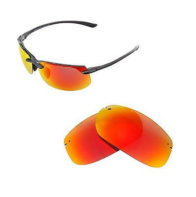 28805ccf512 Walleva Polarized Fire Red Replacement Lenses For Maui Jim Banyans  Sunglasses