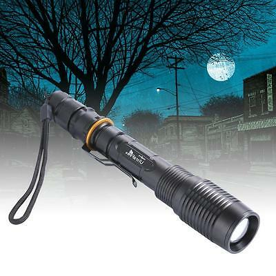 8000 Lumen Black Zoomable CREE XML T6 LED 18650 Flashlight Focus Torch BY
