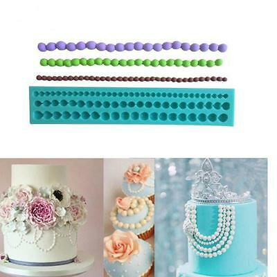 Cake Fondant String of Pearl Silicone Sugar Craft Paste Bead Mold Clay Mould B