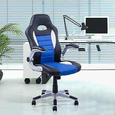 Racing Car Office Chair Swivel Exacutive Faux Leather Computer Gaming Chair