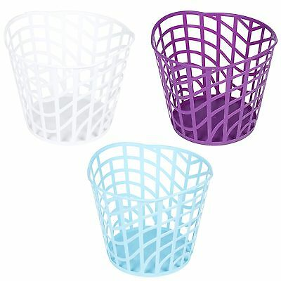 Plastic Round 30L Laundry Basket Handles Storage Washing Hamper Bin Ergonomic