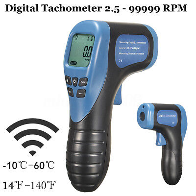 Non Contact Digital Laser Photo Tachometer Gun RPM Tach Tester Meter Speed Gauge