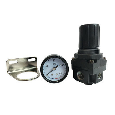 "1/4"" NPT Air Compressor Regulator w/Gauge for Pneumatic Air Tools WR1130G"