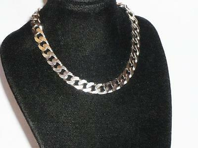 "Solid 925 8.5"" Sterling Silver Curb Link Bracelet Chain Jewellery 16G Gents Mens"