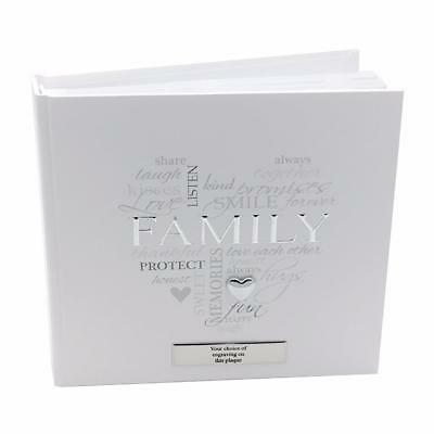 "Personalised Family Gift - Elegant Family Photo Album Boxed 4x6"" FL316FAM-P"