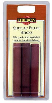 Liberon Shellac Fill Stick Light x 3