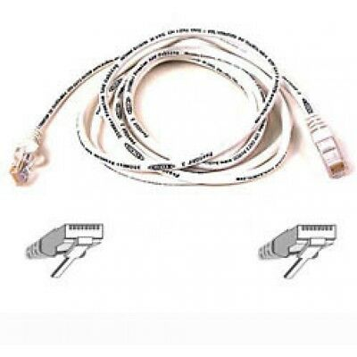 Belkin Patch CAT5 RJ45 Snagless 5m Cable (White) - Brand New!