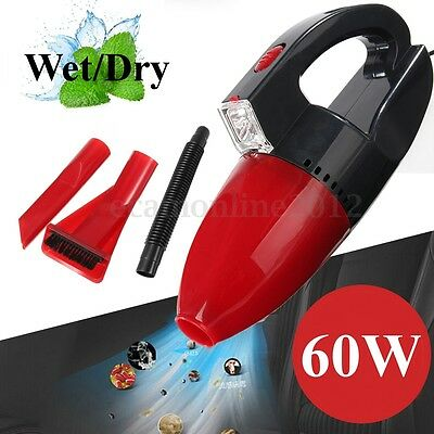 Portable Car Wet &Dry Vacuum Cleaner Tire Inflator Pump Air Compressor 12V 60W