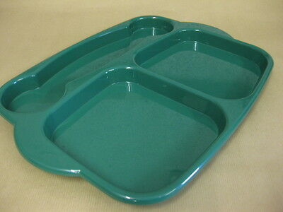 Green Meal Tray Large Bbq Nursery Garden Picnic Camping School Food Dinner