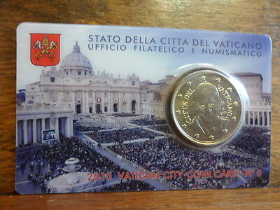 PONTIFICATE OF POPE FRANCIS - VATICAN COIN CARD N. 6 YEAR 2015 Coincard