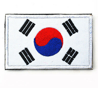 Korea flag Patches ARMY MORALE TACTICAL BADGE Embroidery PATCH