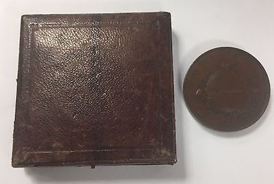 1851 Bronze Great Exhibition Medal Wyon William Boxed Very Rare Mint