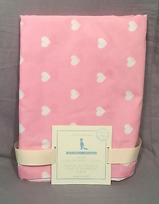 Pottery Barn Kids Pink Heart Organic Toddler Duvet Cover+Crib Fitted Sheet