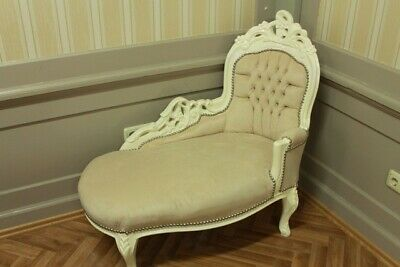 Barock Recamiere Chaiselongue Antik Stil AlSo0316CrBgBaby
