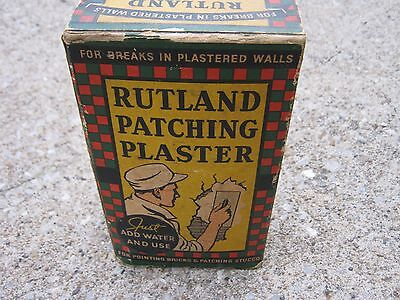 Original Vintage Full Ruthland Patching Plaster unopened advertising box