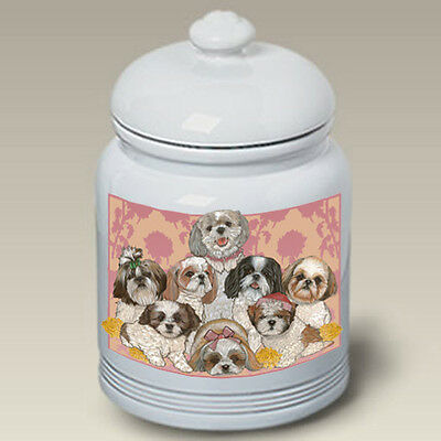 Ceramic Treat Cookie Jar - Shih Tzu Group (PS) 52011