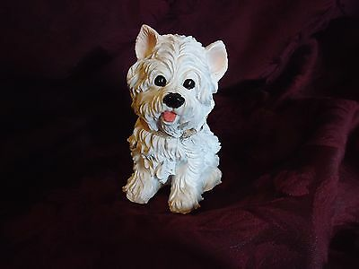 """West Highland Terrier 5"""" sitting Figurine Resin material"""