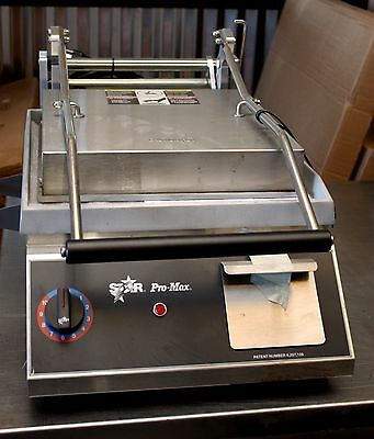 Star - GR14 - Pro-Max® Countertop Sandwich Grill w/ Smooth Plates & Timer CUBAN