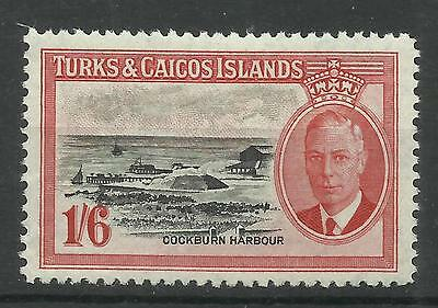 Turks & Caicos Islands, 1950 Sg 230, 1/6d Black & Scarlet, LM/M [733]