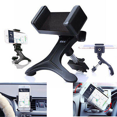Black Car Air Vent Mount Cradle Holder Stand For Mobile Smart Cell Phone GPS